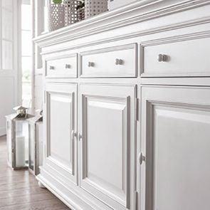 Buffet bas blanc 3 portes 3 tiroirs - Harmonie - Visuel n°2