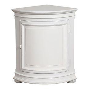Buffet d'angle bas en bois blanc - Harmonie