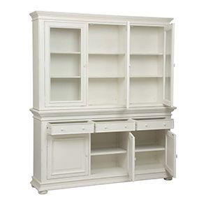 Buffet vaisselier blanc 3 portes vitrées - Harmonie - Visuel n°3