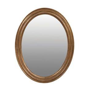 Miroir ovale en bois doré