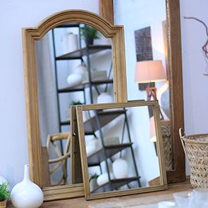 Miroir rectangulaire en épicéa