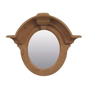 Miroir ovale œil de bœuf en épicéa