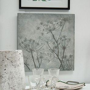 Panneau décoratif effet ciment fleurs