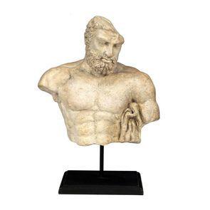 Statuette buste d'homme sur socle en bois - Visuel n°1