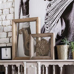 Cadre vitrine en bois naturel