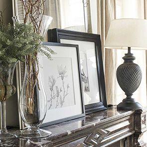 Tableau imprimé magnolias en bois