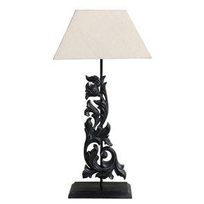 Lampe arabesque noire