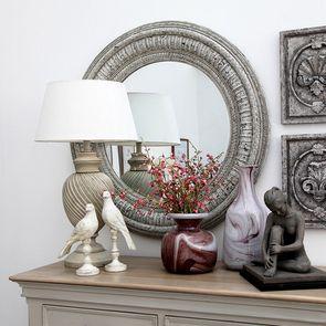 Lampe sur pied blanc en bois - Visuel n°3