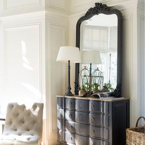 Lampe en bois noir