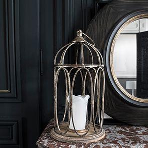 Miroir ovale en pin noir - Visuel n°2
