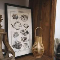 Tableau décoratif en bois poissons