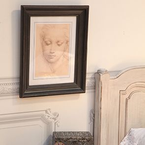 Cadre gravure jeune fille