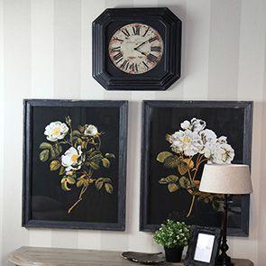 Horloge en bois noir vieilli - Visuel n°2