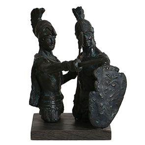 Statuette duo de gladiateurs