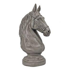 Statue cavalier blanc