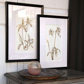 Tableau décoratif feuilles dorées (lot de 2)
