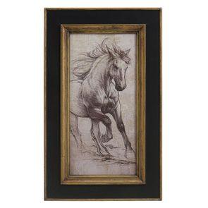 Tableau en bois dessin cheval