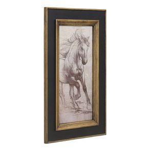 Tableau en bois dessin cheval - Visuel n°3