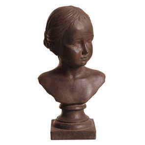 Statue buste jeune fille