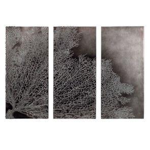 Tableau mural triptyque corail foncé - Visuel n°3