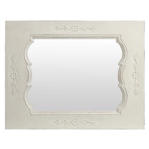 Miroir en bois massif blanc – Château
