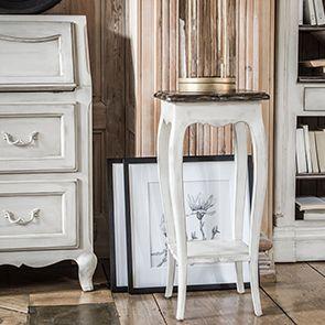 Console d'entrée blanche en pin massif - Château