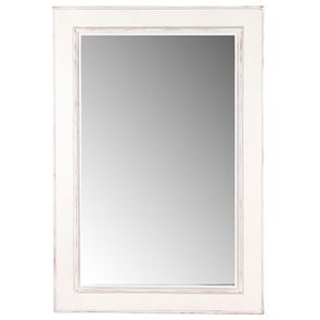Miroir rectangulaire en bois blanc