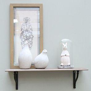 Statuette lapin sous cloche en verre