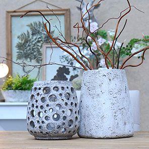 Photophore en ciment gris - Visuel n°2