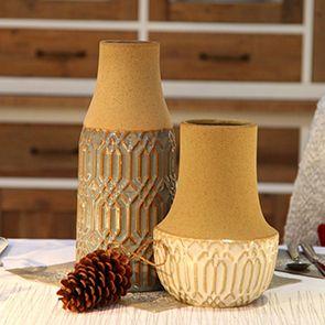 Pot décoratif en grès sable