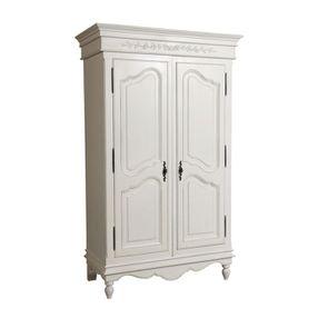 Armoire penderie blanche 2 portes en bois - Romance - Visuel n°4