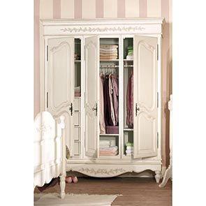 Armoire blanche 3 portes en bois - Romance