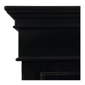 Armoire penderie noire 3 portes en bois - Romance - Visuel n°11