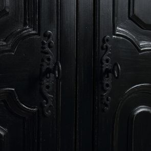 Armoire penderie noire 3 portes en bois - Romance - Visuel n°15