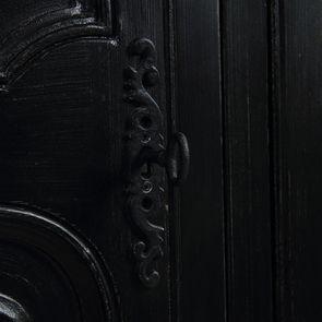Armoire penderie noire 3 portes en bois - Romance - Visuel n°16