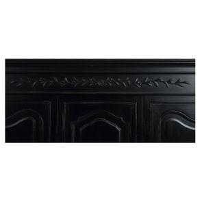 Armoire penderie noire 3 portes en bois - Romance - Visuel n°18