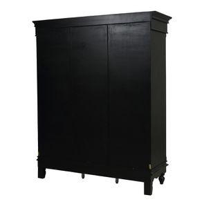 Armoire penderie noire 3 portes en bois - Romance - Visuel n°8