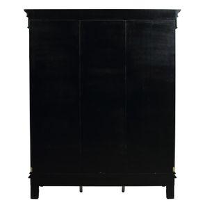 Armoire penderie noire 3 portes en bois - Romance - Visuel n°9
