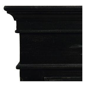 Armoire penderie bonnetière noire 1 porte en bois - Romance - Visuel n°9