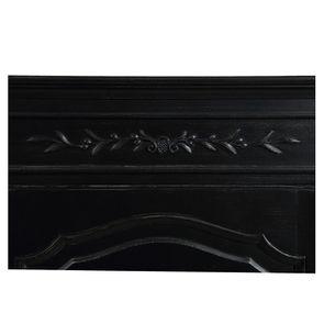 Armoire penderie bonnetière noire 1 porte en bois - Romance - Visuel n°11