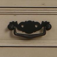 Buffet bas taupe 4 portes en bois - Romance - Visuel n°2