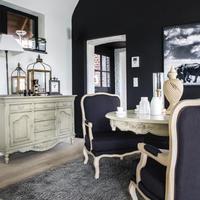 Buffet bas 2 portes 6 tiroirs en bois gris - Romance