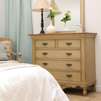 Commode taupe 5 tiroirs - Romance