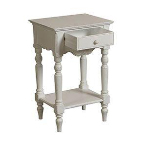 Table de chevet blanche 1 tiroir - Romance - Visuel n°5