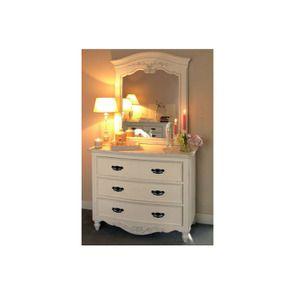 Commode galbée blanche 3 tiroirs - Romance - Visuel n°3