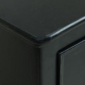 Commode galbée noire 3 tiroirs - Romance - Visuel n°4