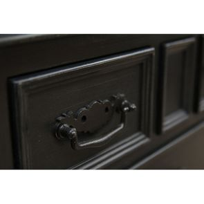 Commode galbée noire 3 tiroirs - Romance - Visuel n°8