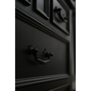 Commode galbée noire 3 tiroirs - Romance - Visuel n°9