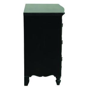 Commode galbée noire 3 tiroirs - Romance - Visuel n°5