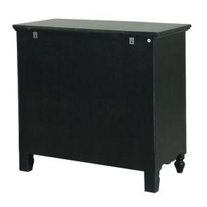 Commode galbée noire 3 tiroirs - Romance - Visuel n°6